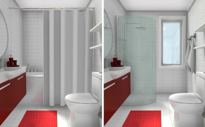 Small Bathroom with Tub vs