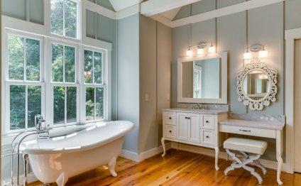 Bright Famrhouse Bathroom