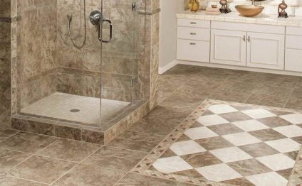 Elegant bathroom floor