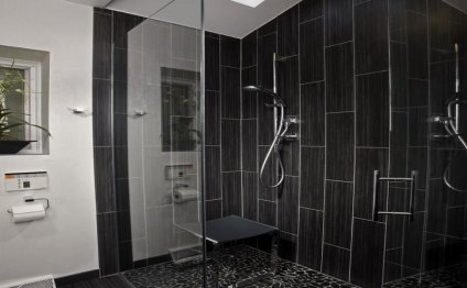 Black Ceramic Tiles Bathroom