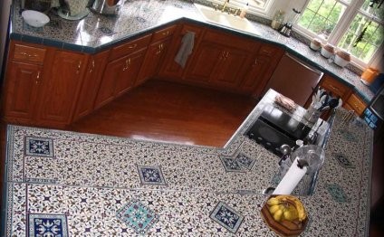 Ceramic kitchen tile counter