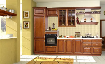 Right corner kitchen cabinets