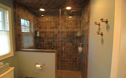 Bathroom doorless shower ideas