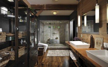 Modern, Earthy Bathroom Design