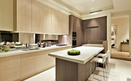 Modern island kitchen design
