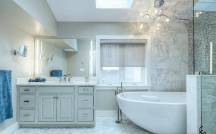 Carrara Marble bathroom Design