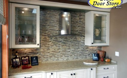 Etched glass Design for kitchen cabinets