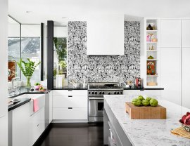Kitchen wallpapers need not always be colorful affairs 25 Creative Wallpaper Ideas for Your Kitchen