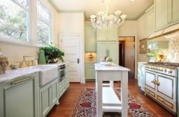 Narrow island offers additional countertop space in the small kitchen 24 Tiny Island Ideas for the Smart Modern Kitchen