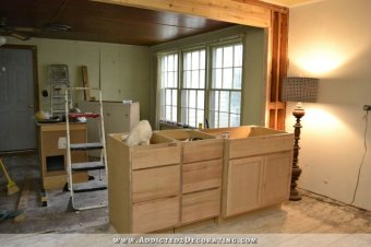 no lights above kitchen sink cabinet