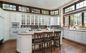 Kitchen island Design with cooktop
