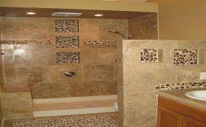 Shower tile Designs for Small bathroom