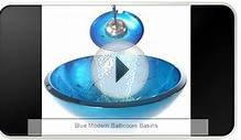 Blue Modern Bathroom Basins