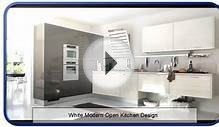 White Modern Open Kitchen Design