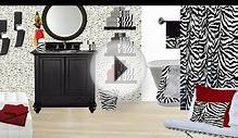 Zebra Bathroom Set + Bathroom Remodeling Ideas With Zebra